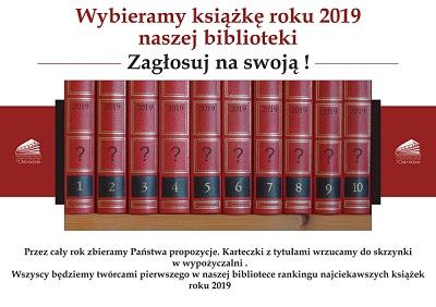 Wybieramy książkę 2019 naszej biblioteki