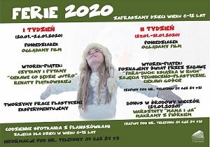 Ferie 2020 w naszej bibliotece