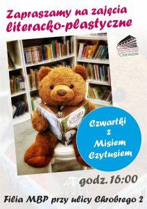 Miś Czytuś zaprasza – zajęcia literacko-plastyczne dla dzieci